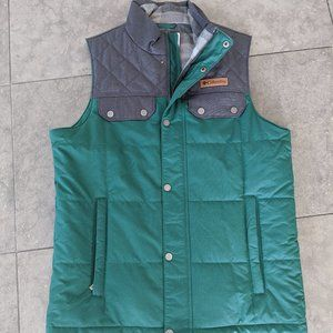 Men's Vest by Columbia, Green and Grey, Small